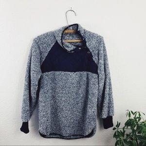 Sweaters - Sherpa Pullover Sweatshirt